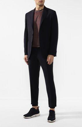 Мужской шерстяной костюм Z ZEGNA темно-синего цвета, арт. 722880/2XPYGW | Фото 1 (Рукава: Длинные; Материал внешний: Шерсть; Костюмы М: Однобортный; Стили: Кэжуэл)