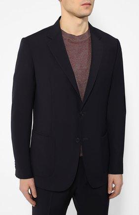 Мужской шерстяной костюм Z ZEGNA темно-синего цвета, арт. 722880/2XPYGW | Фото 2 (Рукава: Длинные; Материал внешний: Шерсть; Костюмы М: Однобортный; Стили: Кэжуэл)