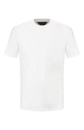 Мужская хлопковая футболка ZEGNA COUTURE белого цвета, арт. CUCJ05/7UJ10 | Фото 1