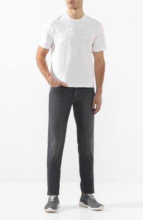 Мужская хлопковая футболка ZEGNA COUTURE белого цвета, арт. CUCJ05/7UJ10 | Фото 2