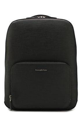 Мужской кожаный рюкзак ERMENEGILDO ZEGNA черного цвета, арт. C1564J-LHJAK | Фото 1