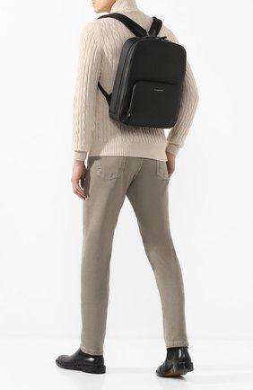 Мужской кожаный рюкзак ERMENEGILDO ZEGNA черного цвета, арт. C1564J-LHJAK | Фото 2