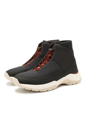 Мужские комбинированные кроссовки LORO PIANA темно-серого цвета, арт. FAL0146 | Фото 1