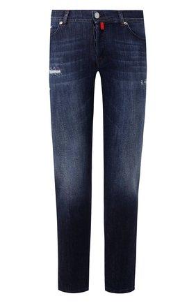 Мужские джинсы KITON синего цвета, арт. UPNJSM/J07S27 | Фото 1