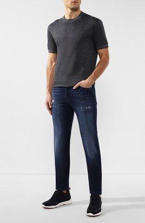 Мужские джинсы KITON синего цвета, арт. UPNJSM/J07S27 | Фото 2