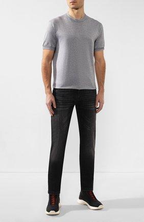 Мужские джинсы KITON темно-серого цвета, арт. UPNJS/J07S11 | Фото 2