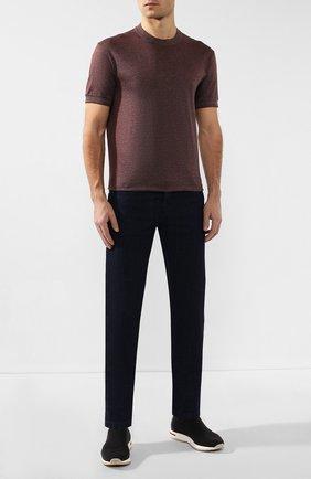 Мужские джинсы KITON темно-синего цвета, арт. UPNJS/J07S10 | Фото 2
