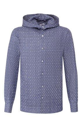 Мужская льняная рубашка KITON голубого цвета, арт. UMCMARH0721507   Фото 1