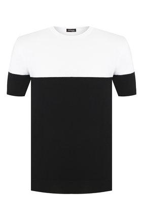 Мужской хлопковый джемпер KITON черно-белого цвета, арт. UK1035 | Фото 1