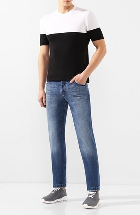 Мужской хлопковый джемпер KITON черно-белого цвета, арт. UK1035 | Фото 2
