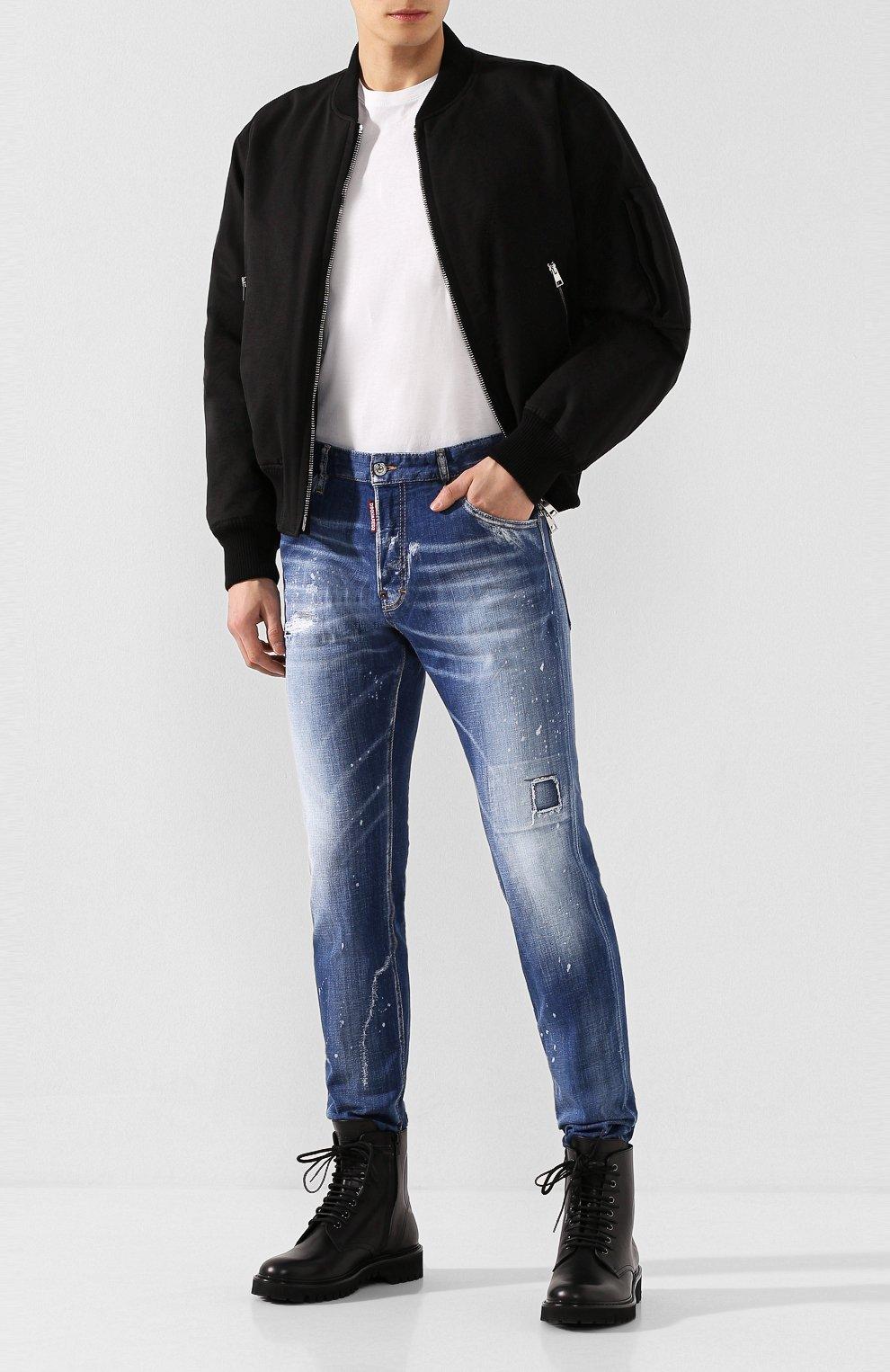 Мужские джинсы DSQUARED2 синего цвета, арт. S74LB0670/S30342 | Фото 2