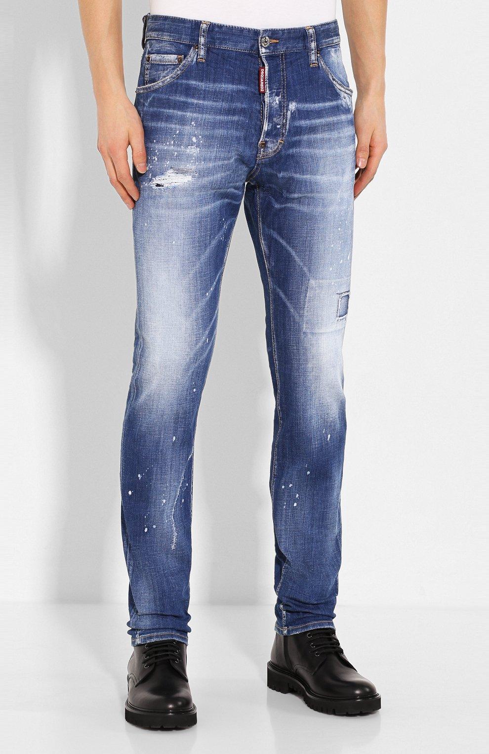 Мужские джинсы DSQUARED2 синего цвета, арт. S74LB0670/S30342 | Фото 3