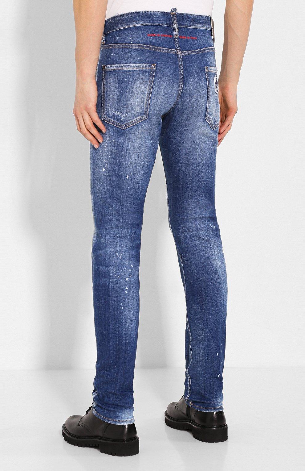 Мужские джинсы DSQUARED2 синего цвета, арт. S74LB0670/S30342 | Фото 4