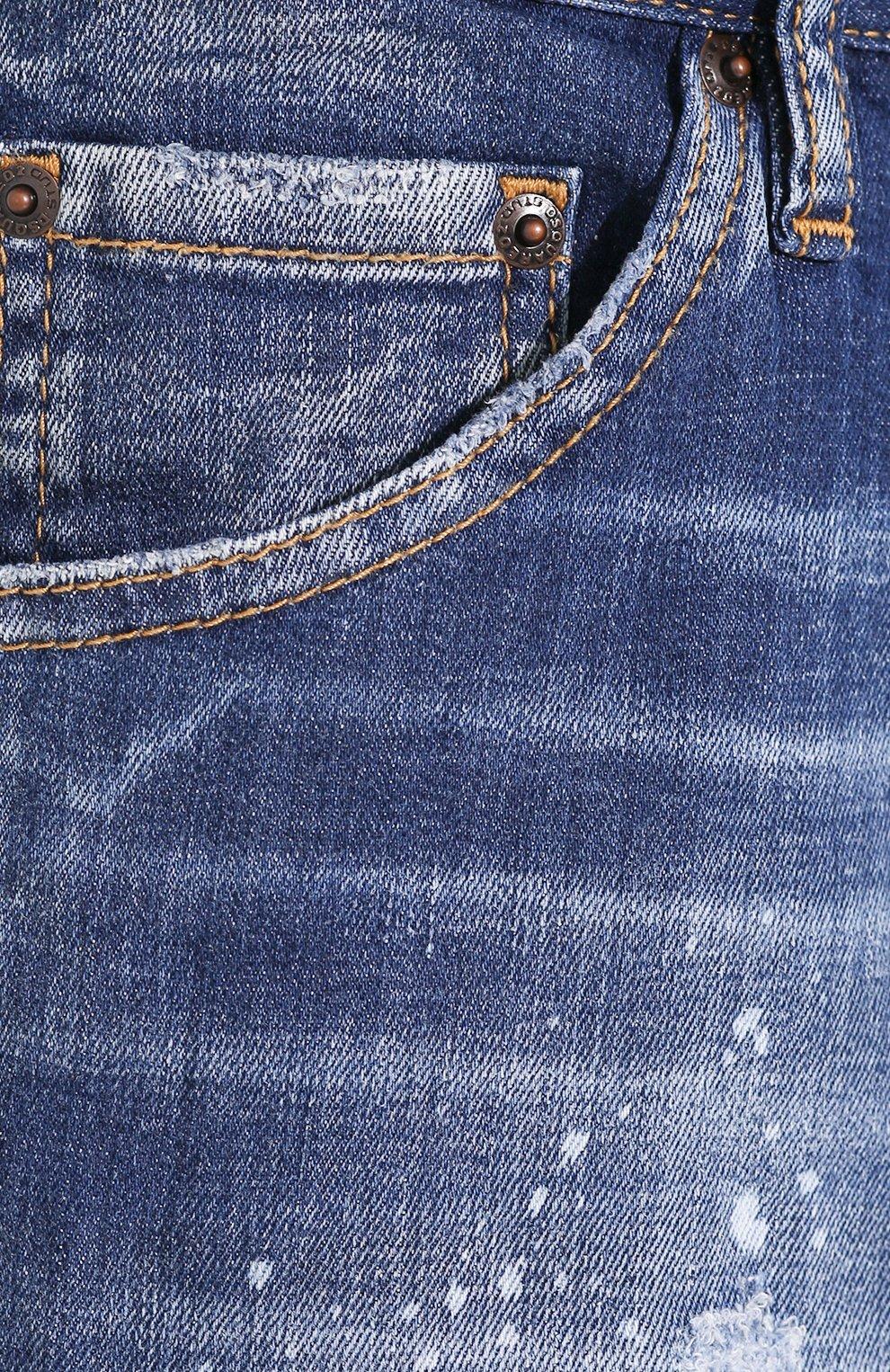 Мужские джинсы DSQUARED2 синего цвета, арт. S74LB0670/S30342 | Фото 5