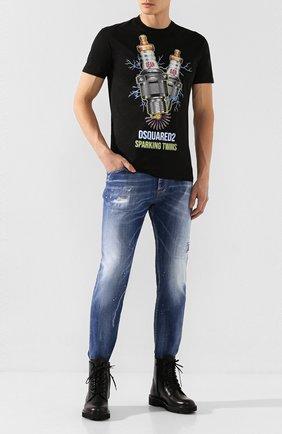 Мужские джинсы DSQUARED2 синего цвета, арт. S74LB0671/S30342   Фото 2