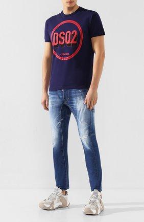 Мужские джинсы DSQUARED2 синего цвета, арт. S74LB0675/S30663 | Фото 2