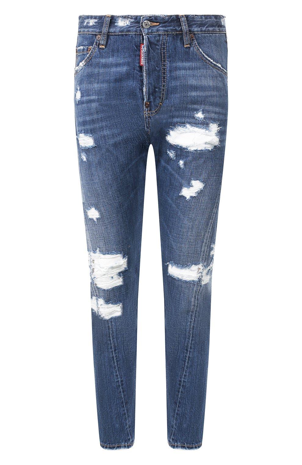 Мужские джинсы DSQUARED2 синего цвета, арт. S74LB0719/S30309 | Фото 1