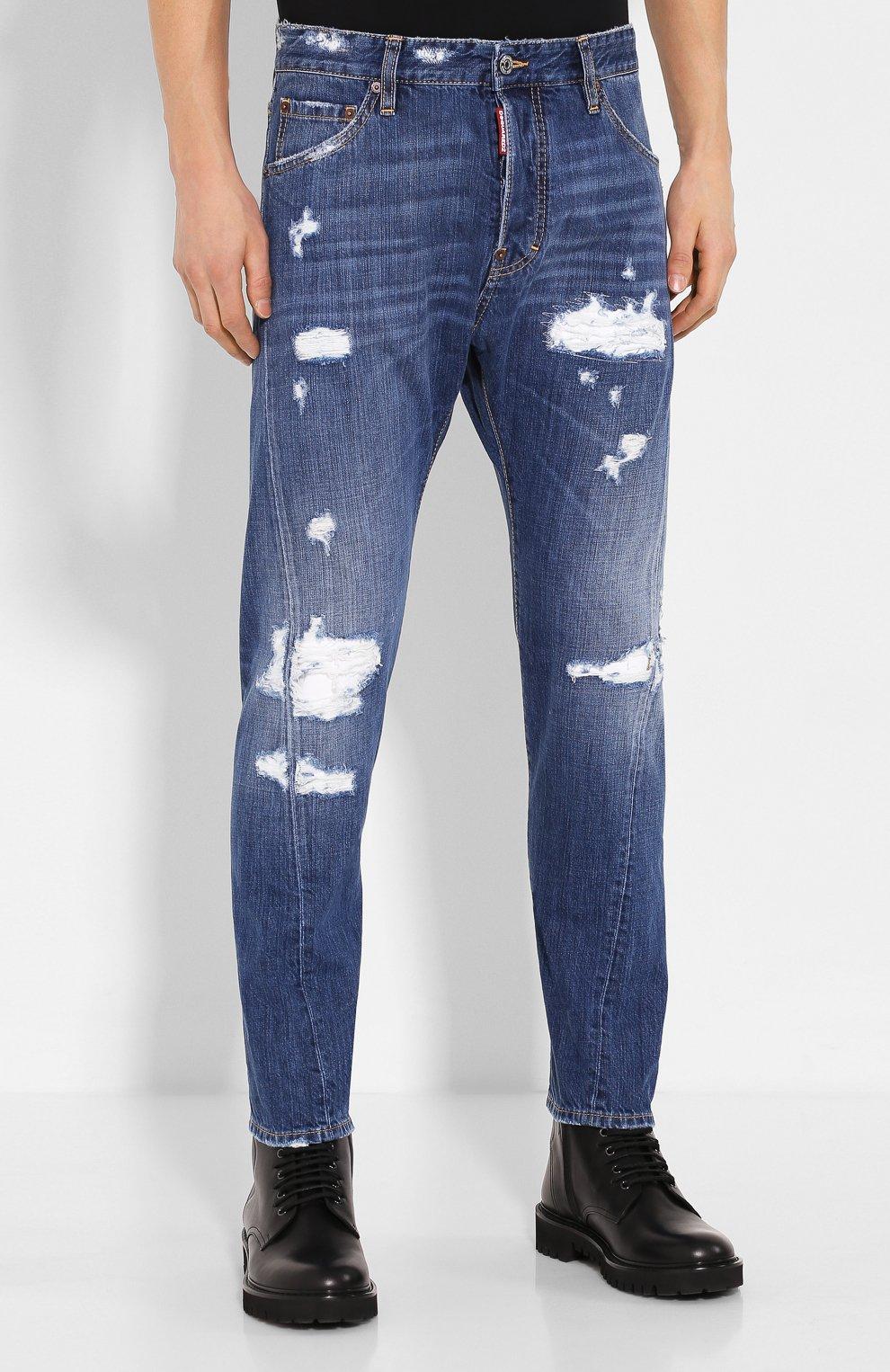 Мужские джинсы DSQUARED2 синего цвета, арт. S74LB0719/S30309 | Фото 3