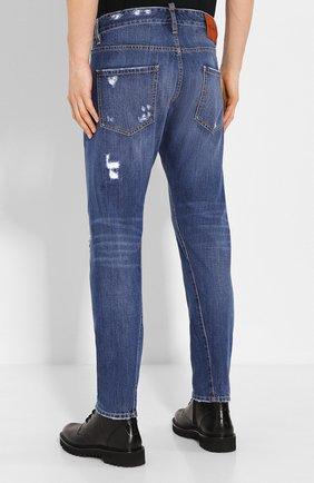Мужские джинсы DSQUARED2 синего цвета, арт. S74LB0719/S30309 | Фото 4
