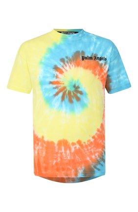 Мужская хлопковая футболка PALM ANGELS разноцветного цвета, арт. PMAA001R204130060188 | Фото 1