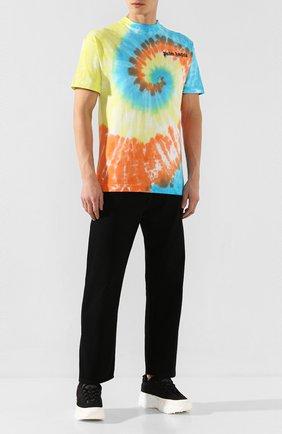 Мужская хлопковая футболка PALM ANGELS разноцветного цвета, арт. PMAA001R204130060188 | Фото 2