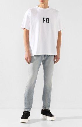 Мужские джинсы PALM ANGELS голубого цвета, арт. PMYA012R203430017310 | Фото 2