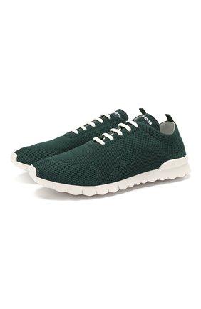 Мужские текстильные кроссовки KITON зеленого цвета, арт. USSFITSN00609 | Фото 1