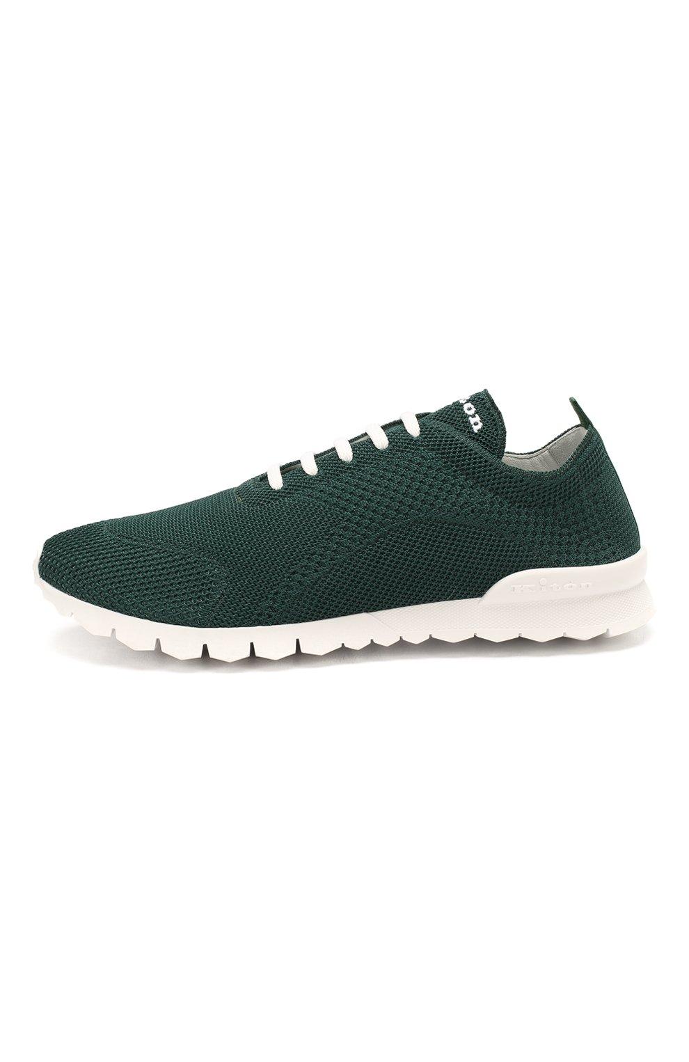 Мужские текстильные кроссовки KITON зеленого цвета, арт. USSFITSN00609   Фото 3