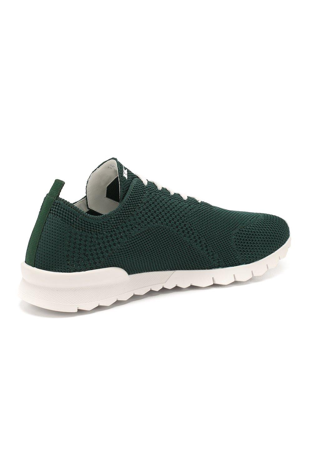 Мужские текстильные кроссовки KITON зеленого цвета, арт. USSFITSN00609   Фото 4