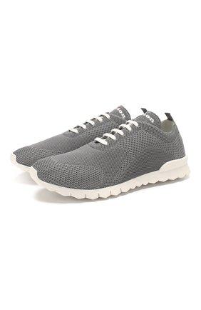Мужские текстильные кроссовки KITON серого цвета, арт. USSFITSN00609 | Фото 1
