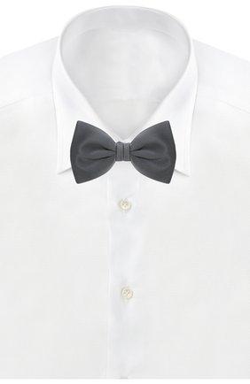 Мужской шелковый галстук-бабочка BRIONI серого цвета, арт. 01L200/PZ411 | Фото 2