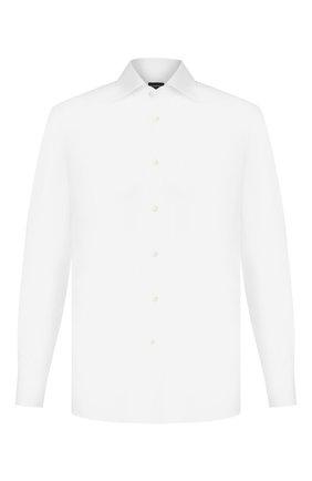 Мужская хлопковая сорочка ERMENEGILDO ZEGNA белого цвета, арт. 701031/9RS0GS | Фото 1