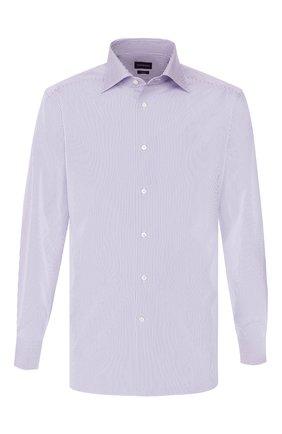 Мужская хлопковая сорочка ERMENEGILDO ZEGNA синего цвета, арт. 701044/9RS0GS | Фото 1