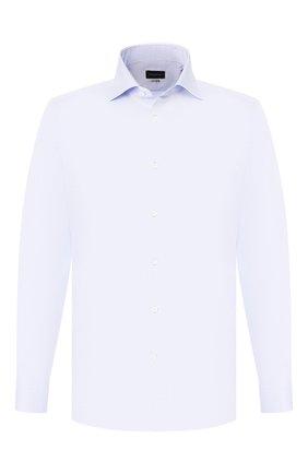 Мужская хлопковая сорочка ERMENEGILDO ZEGNA голубого цвета, арт. 701211/9MS0BA | Фото 1
