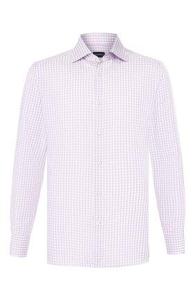 Мужская хлопковая сорочка ERMENEGILDO ZEGNA сиреневого цвета, арт. 701558/9MS0BA | Фото 1
