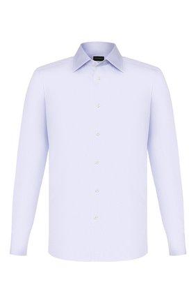Мужская хлопковая сорочка ERMENEGILDO ZEGNA голубого цвета, арт. 704002/9MS0PA | Фото 1