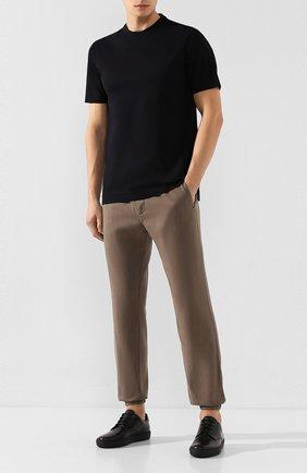 Мужская хлопковая футболка Z ZEGNA темно-синего цвета, арт. VU372/ZZ650   Фото 2