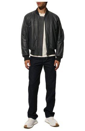 Мужской кожаный бомбер BOTTEGA VENETA темно-серого цвета, арт. 602175/VK0L0 | Фото 2