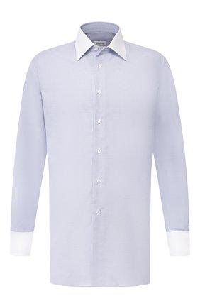 Мужская хлопковая сорочка BRIONI голубого цвета, арт. RCLU2V/P909U | Фото 1