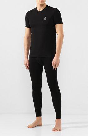 Мужские хлопковая футболка DOLCE & GABBANA черного цвета, арт. M8E14J/FUEB0 | Фото 2