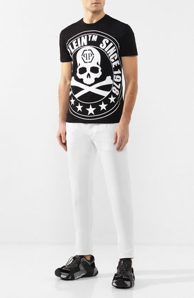 Мужская хлопковая футболка PHILIPP PLEIN черно-белого цвета, арт. S20C MTK4334 PJY002N   Фото 2