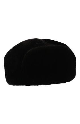 Мужская шапка-ушанка из меха норки и соболя KUSSENKOVV черного цвета, арт. 332803504158 | Фото 1