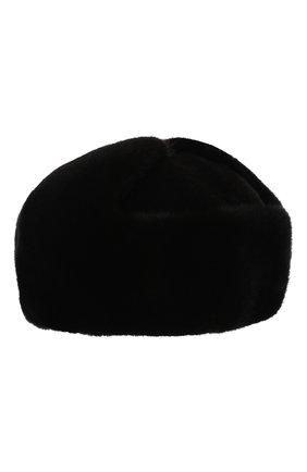 Мужская шапка-ушанка из меха норки и соболя KUSSENKOVV черного цвета, арт. 332803504158 | Фото 2