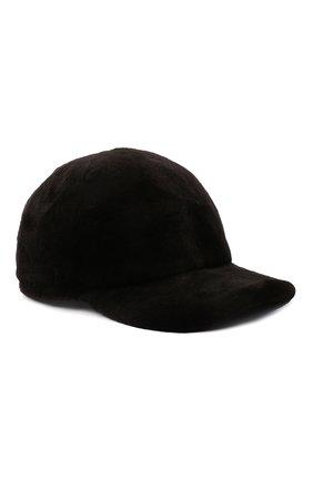 Мужской бейсболка из меха норки KUSSENKOVV коричневого цвета, арт. 380210004003 | Фото 1