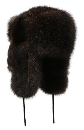 Мужская шапка-ушанка из меха соболя KUSSENKOVV коричневого цвета, арт. 333500004126 | Фото 1