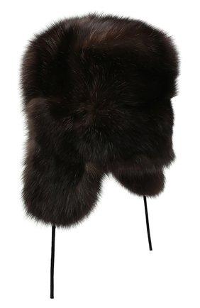 Мужская шапка-ушанка из меха соболя KUSSENKOVV коричневого цвета, арт. 333500004126 | Фото 2