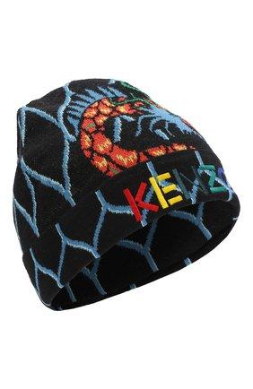 Детского хлопковая шапка KENZO разноцветного цвета, арт. KP90538 | Фото 1