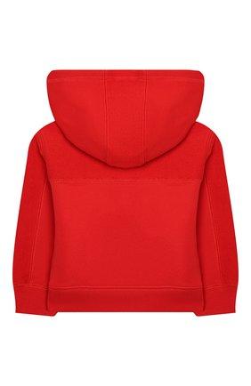Детский хлопковая толстовка BURBERRY красного цвета, арт. 8025063 | Фото 2