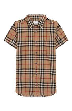 Детская хлопковая рубашка BURBERRY разноцветного цвета, арт. 8014133 | Фото 1