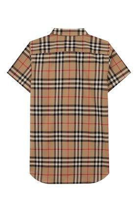 Детская хлопковая рубашка BURBERRY разноцветного цвета, арт. 8014133 | Фото 2